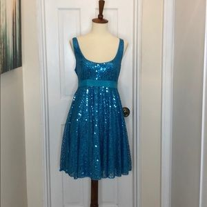 Betsey Johnson evening blue sequined dress